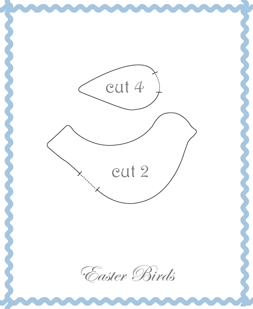 Easter fabric bird pattern