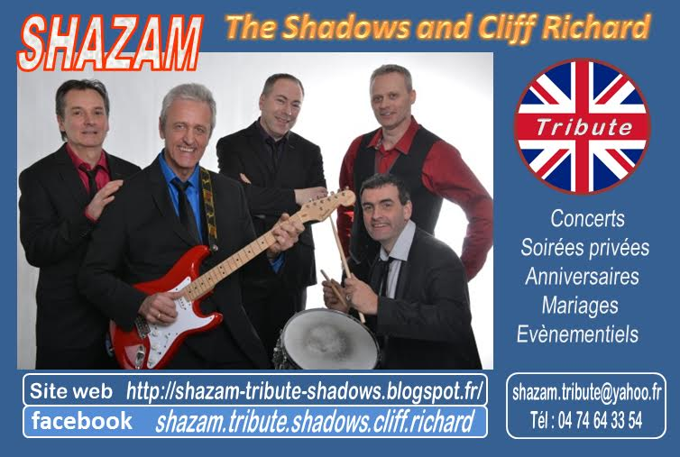 SHAZAM : Tribute to the Shadows & Cliff RICHARD