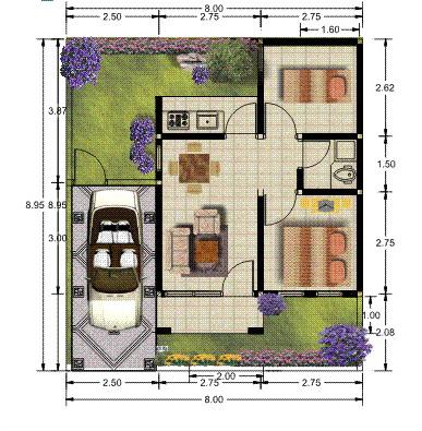 rumahku 1 denah rumah sederhana rumah type 36