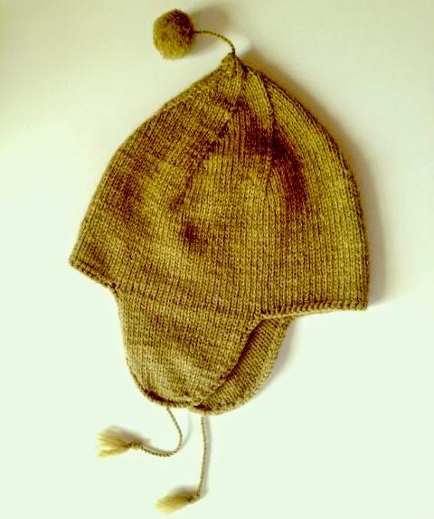 Bonnet péruvien en alpaga vert kaki clair