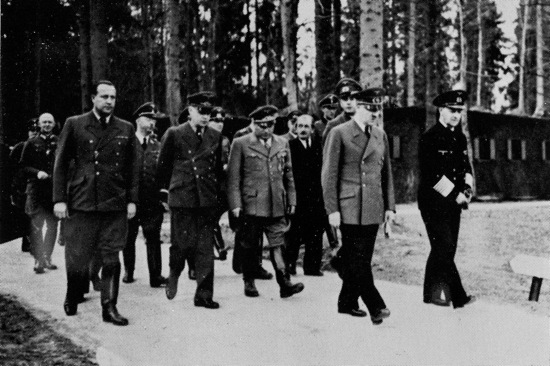Hitler at Wolfsschanze Wolf's Lair