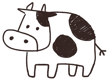 牛のイラスト(丑年・干支)線画