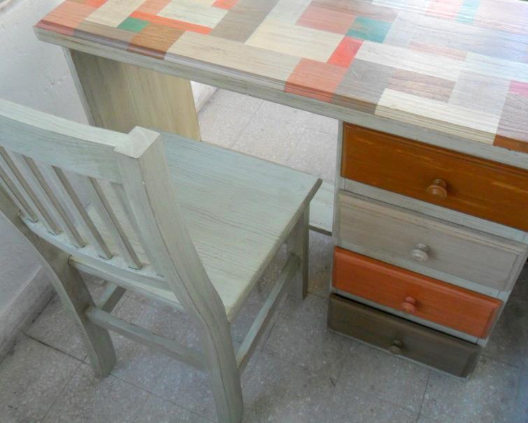 Deco reciclo escritorios reciclados - Disenos muebles pintados ...