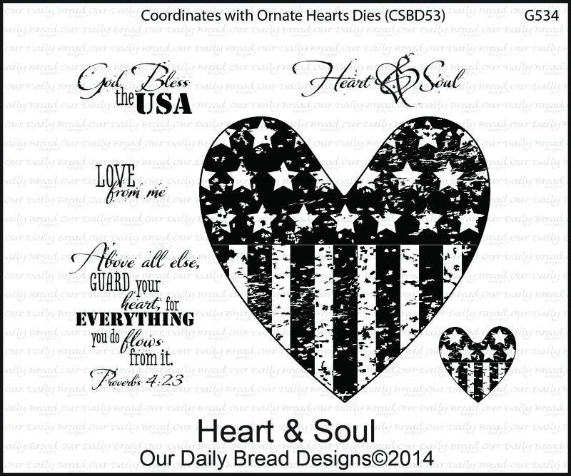 Stamps - Our Daily Bread Designs Heart & Soul
