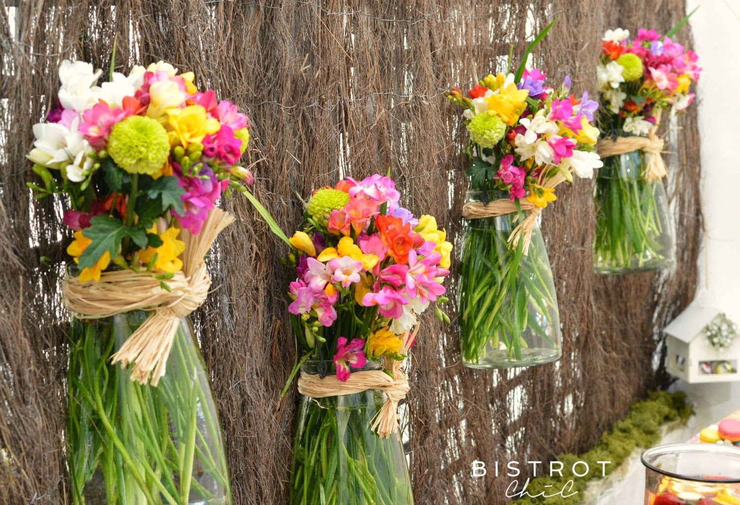 Spring Party Flowers Backdrop by BistrotChic
