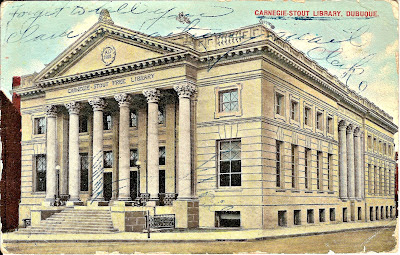 Postcard, Carnegie-Stout Public Library, Dubuque