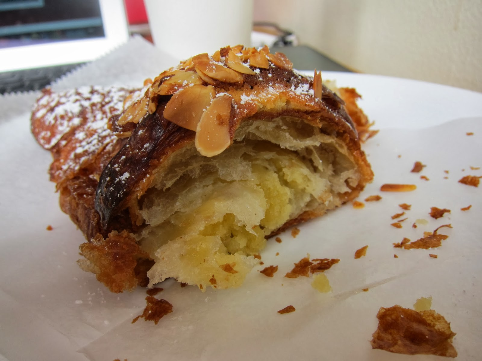 banana wonder: almond croissant smack down: bien cuit, brooklyn, ny