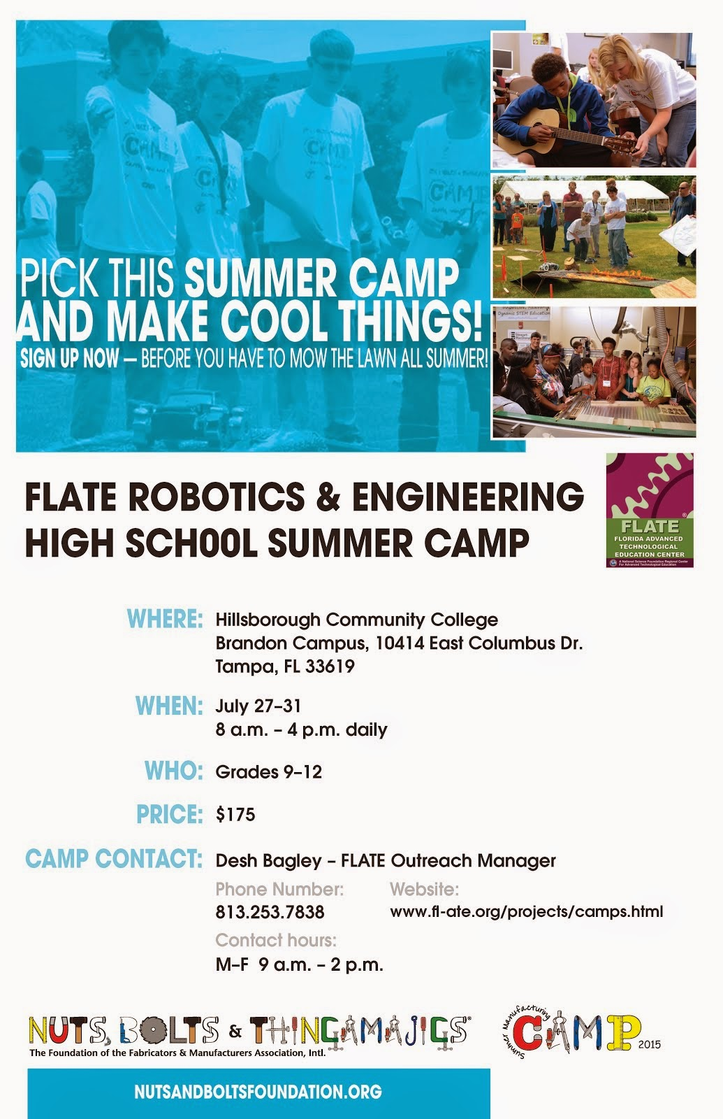 FLATE High School Robotics Camps