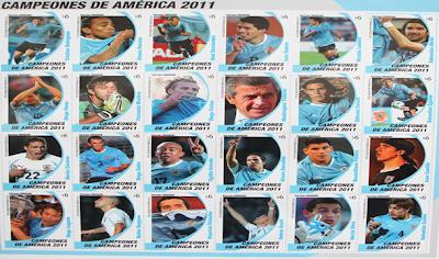 Los Campeones de la copa América 2011 serán inmortalizados en estampillas