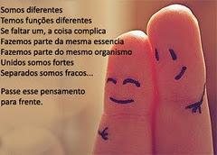 Precisamos uns dos outros