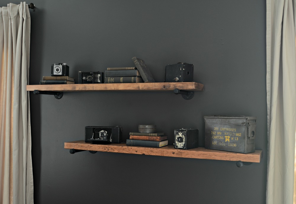 We Found A Fantastic Tutorial For Industrial Shelving That Would Look Great In Mans Den Man Cave Or Even The Right Type Of Living Room