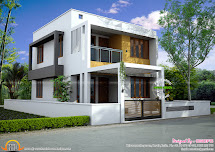 Floor Plan Of Modern 3 Bedroom House - Kerala Home Design