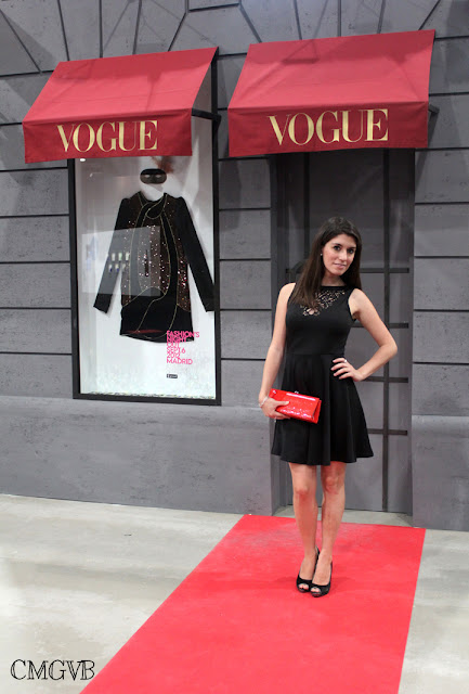 diana dazzling, fashion blogger, fashion, blog,  cmgvb, como me gusta vivir bien, MBFW, cibeles, fashion week, Madrid, casita Vogue, Vogue, Vogue stand, little black dress