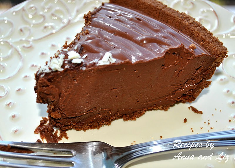 No Bake, Dairy-Free Chocolate Cream Pie