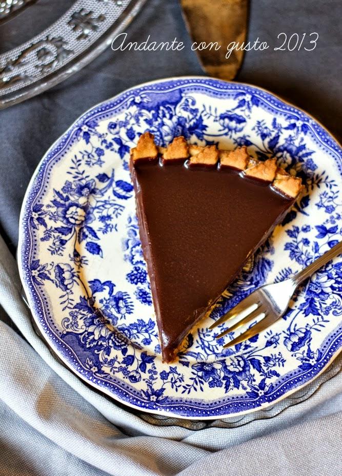 gastrofanatici, venite in viaggio con me? tarte all'extravergine con crema di marroni e ganache fondente