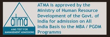 MBA ATMA Exam 14 December 2014 Application Form, Admit Card, Result