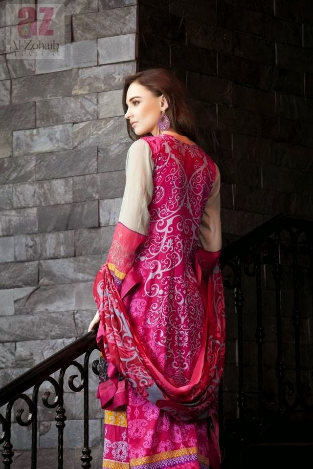 Beautiful Printed Black And Pink Lawn Suits