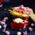 Berenjena de Almagro con jamón y mermelada de pimiento asado
