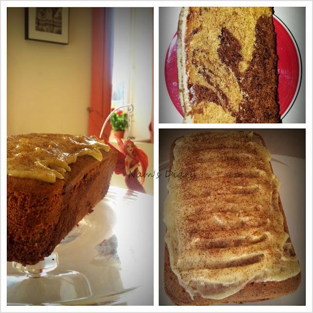 Café Mocha Marbled Cake