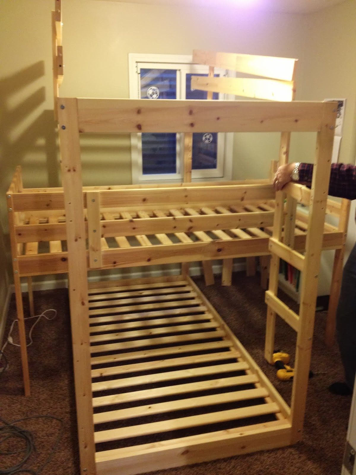 Triple bunk hack mydal bunkbeds ikea hackers ikea for Ikea wooden bunk beds