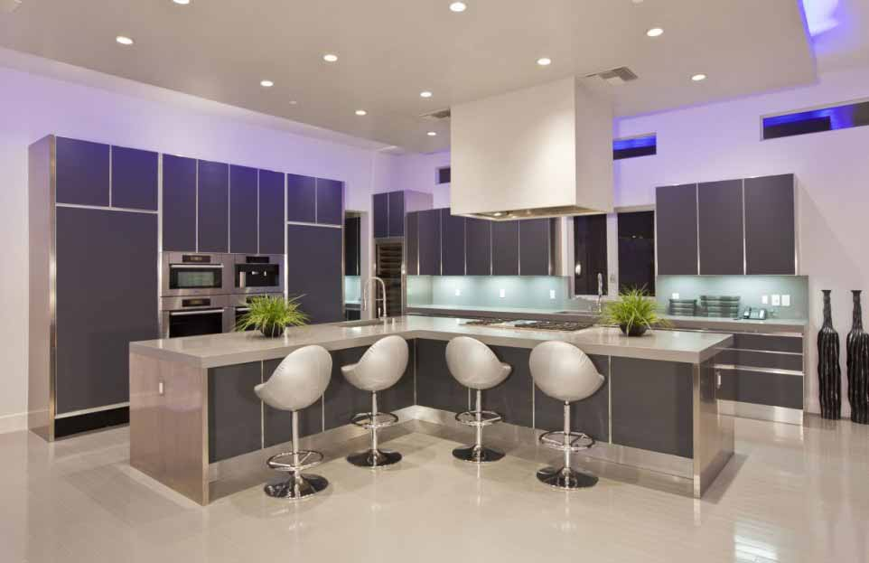 Modern Kitchen With Recessed Lighting