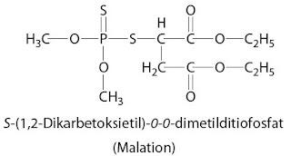 S-(1,2-Dikarbetoksietil)-0-0-dimetilditiofosfat Malation
