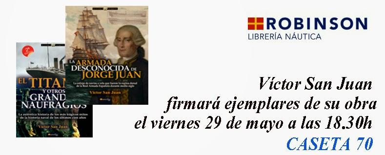 V ctor san juan firma ejemplares de sus obras en librer a for Libreria nautica bilbao