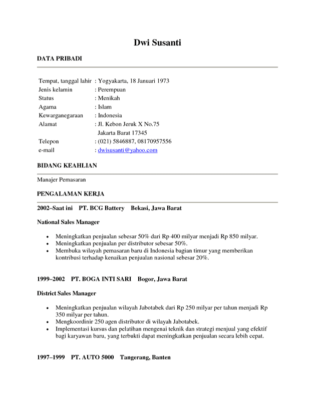 Contoh resume pdf file