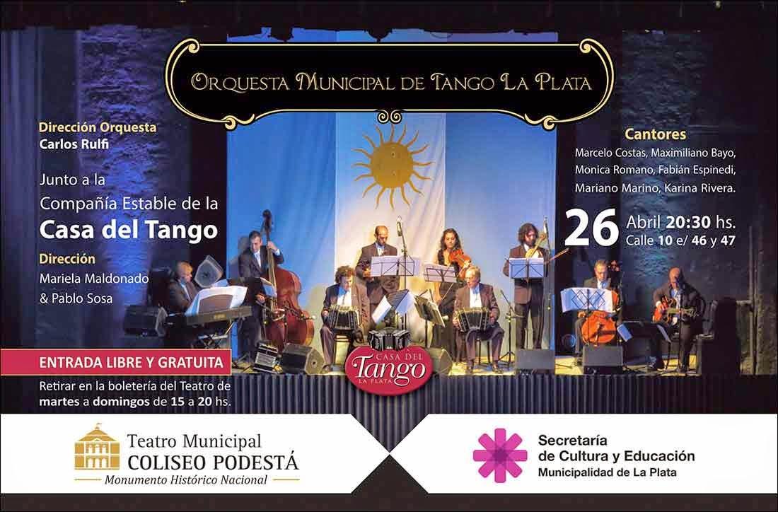 La Orquesta Municipal de Tango Ciudad de La Plata