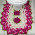 Jogo de banheiro de crochê com bico torcido (tapete do vaso), de Diane Gonçalves