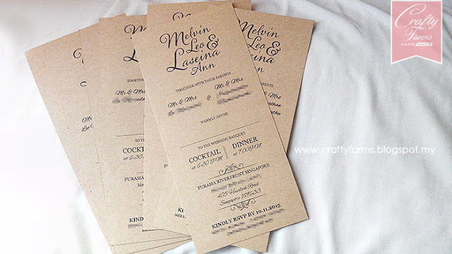 Rustic Brown Wedding Card Printing, Singapore Wedding Card