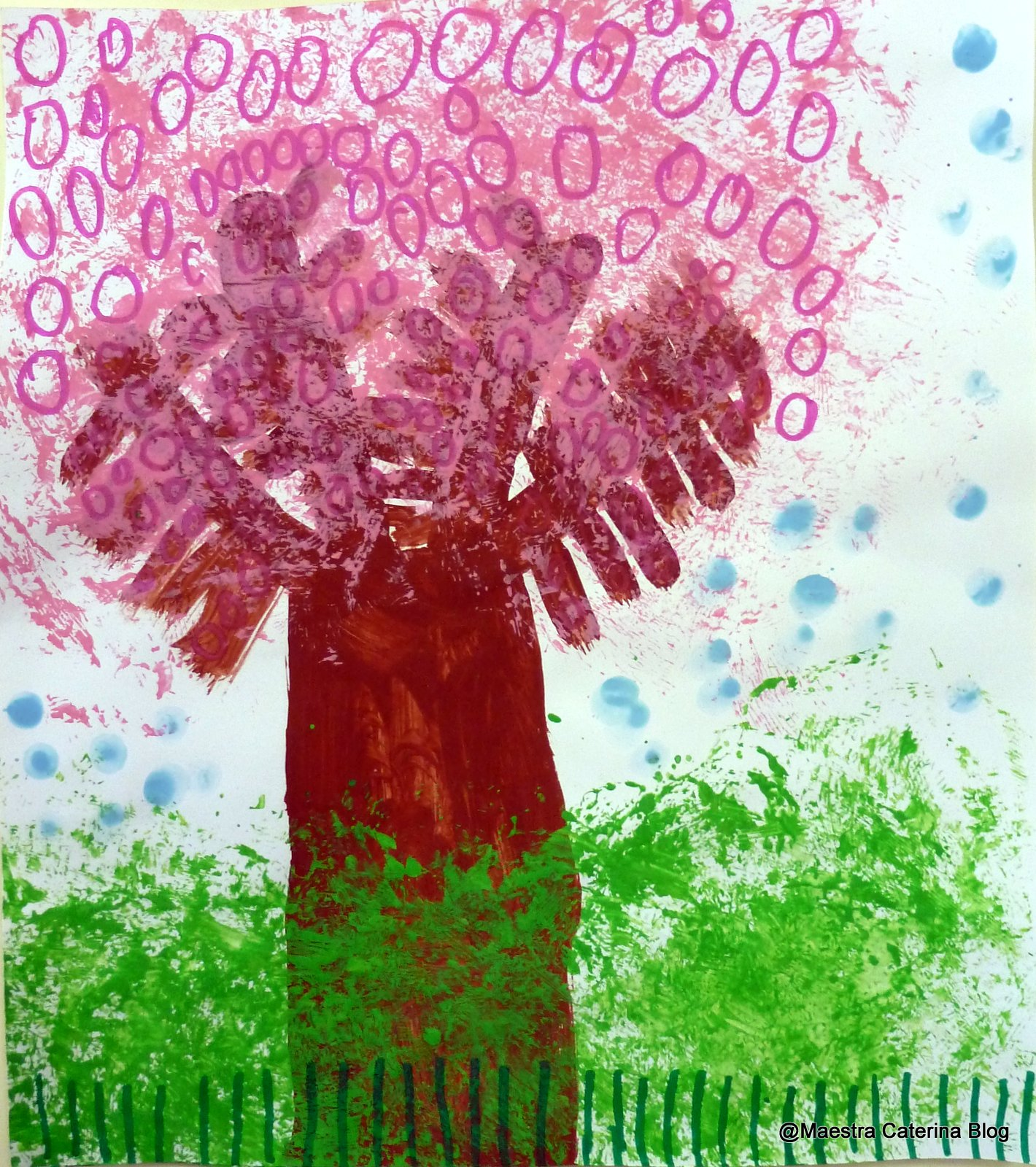 Maestra caterina primavera alberi di pesco in fiore for Foto di alberi da colorare