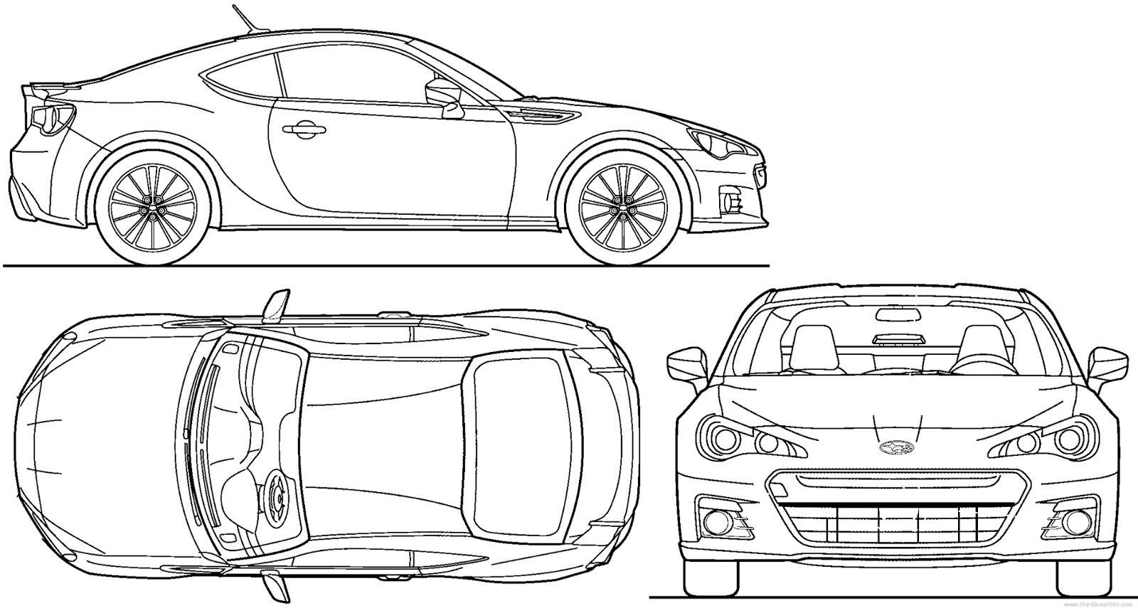 Cgfrog most loved car blueprints for 3d modeling for Printable blueprints