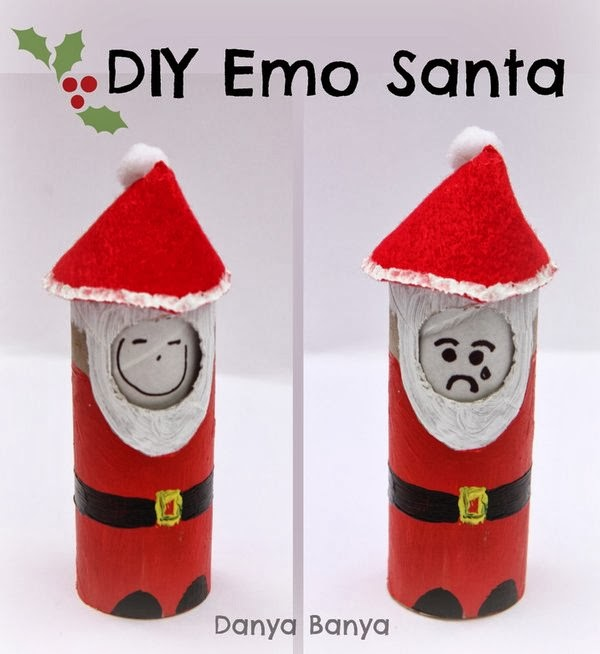 DIY Emo Santa! His facial expression can change, helping kids to think about emotions while they play