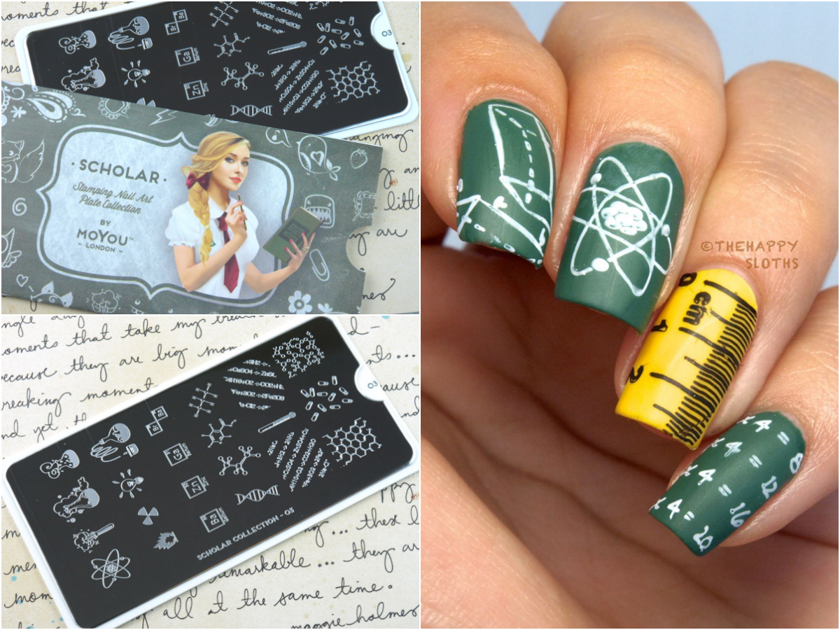 Back to school nails featuring moyou london scholar collection moyou london scholar plates prinsesfo Choice Image