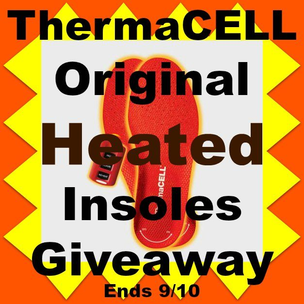 Thermacell Original Heated Insoles Giveaway