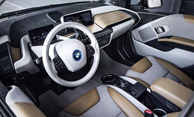 BMW i3 debut - front interior