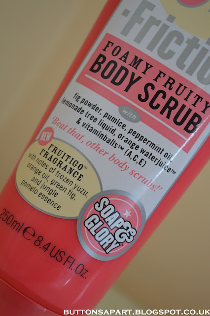 a picture of soap & glory pulp friction foamy fruity body scrub