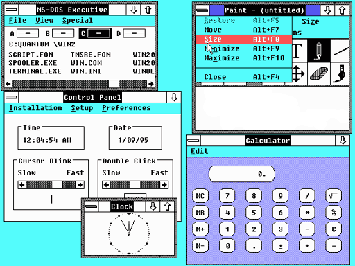 1987  Windows 2.0