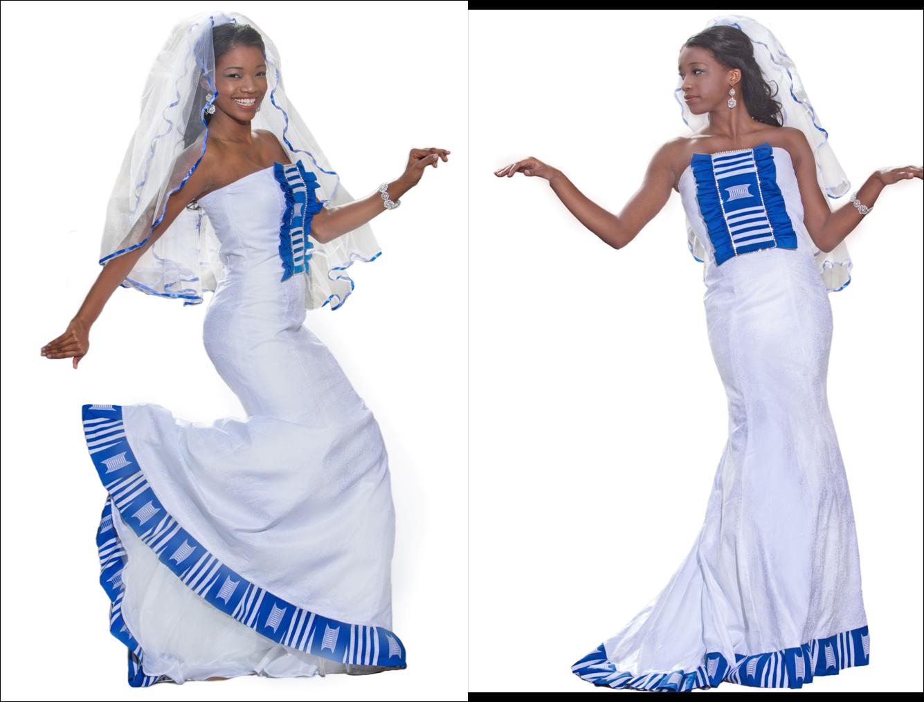 African Kente Wedding Dress Designs
