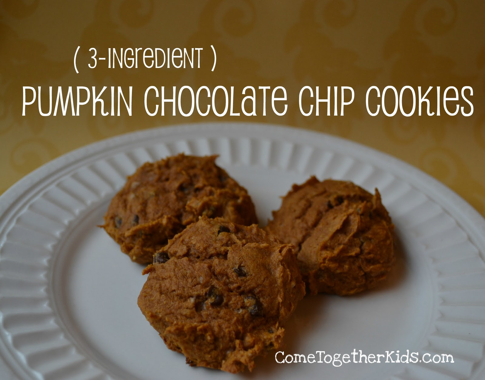 Come Together Kids: Pumpkin Chocolate Chip Cookies (3-ingredients)
