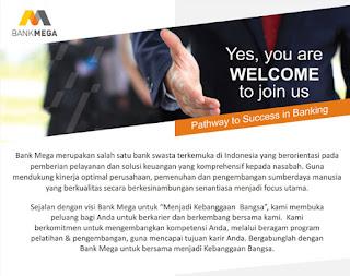 Lowongan Kerja terbaru di Bank Mega