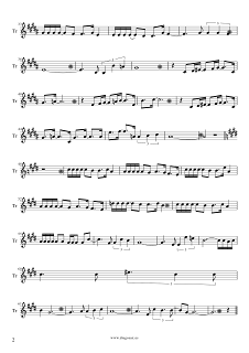 2  Partitura de Vivo por Ella para Trombón de Andrea Bochelli y Marta Sánchez. Partitura de Vivo Per Lei sheet music trombone (music score). ¡Para tocar junto a la música!
