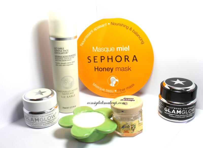 glam glow maschere scrub zucchero miele