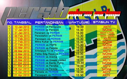jadwal pertandingan persib putaran pertama 2013 2014
