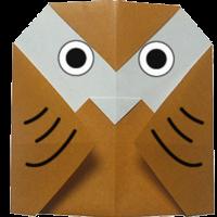 Origami Binatang Burung Hantu