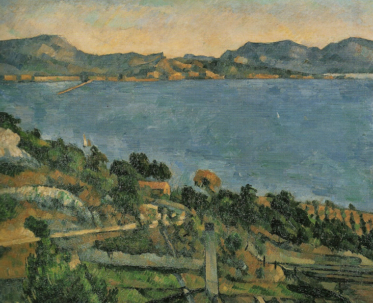 CÉZANNE, Paul: Estaque (c. 1882-1885,  óleo/ tela, 59,5 cm x 73 cm, no acervo do Museu d'Orsay).