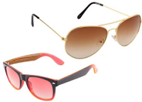 Buy Criss Cross Aviator Sunglasses at Flat 86% off Starting Rs. 95 : Buytoearn