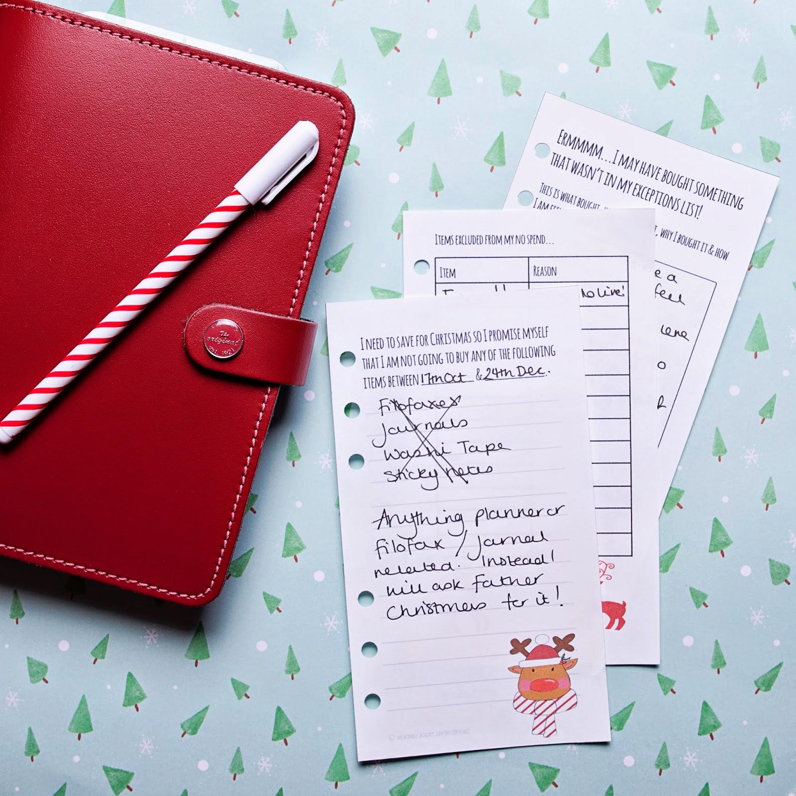 Mrs Brimbles: Planning for Christmas - Budgets & Money - Filofax Friday
