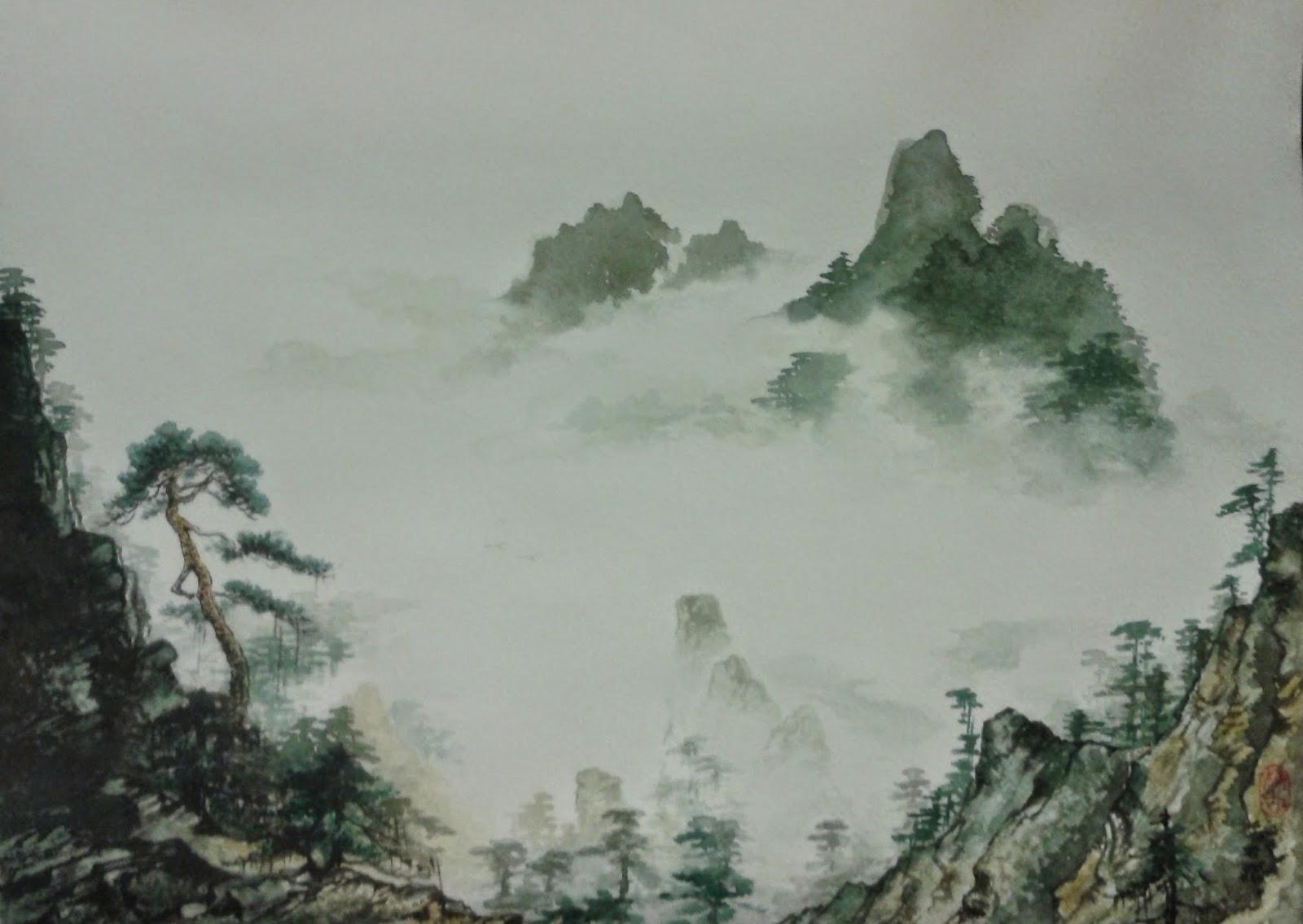 Китайская живопись гохуа от shigu: shigu-gohua.blogspot.com/2014/05/chinese-painting-gohua-landscapes...